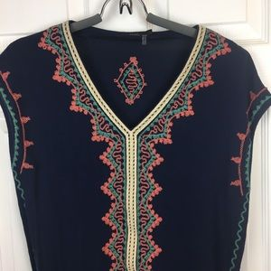 Anthro THML Embroidered Top